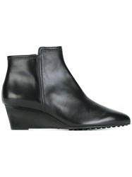 Tod's Wedge Boots Black