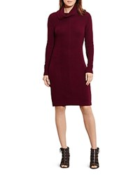 Ralph Lauren Cowlneck Sweater Dress Red