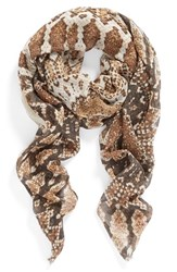 Women's Collection Xiix 'Medallion Scales' Scarf Beige Pebble Beach