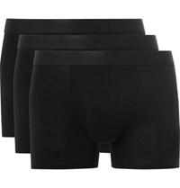 Cdlp Three Pack Stretch Jersey Boxer Briefs Black