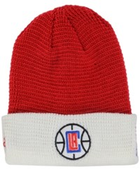 Adidas Los Angeles Clippers Authentic Team Cuffed Knit Hat Red White