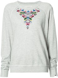 The Great Heart Patch Jumper Grey
