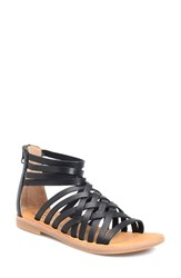 Women's Kork Ease 'Palmyra' Gladiator Sandal Black Leather