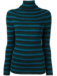 P.A.R.O.S.H. Striped Turtleneck Jumper Multicolour