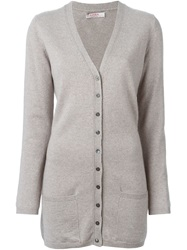 Liska V Neck Cardigan Grey