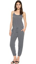 Stateside Bubble Gauze Jumpsuit Charcoal