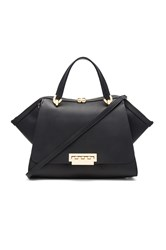 Zac Posen Eartha Iconic Jumbo Double Handle Bag Black