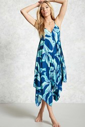 Forever 21 Swim Foliage Cover Up Dress Navy Green Onerror Javascript Fnremovedom 'Color