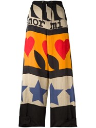 Jc De Castelbajac Vintage Graffiti Style Trousers Black