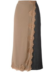 Erika Cavallini Layered Effect Long Skirt Grey