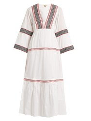 Daft Istanbul Embroidered Cotton Dress White Multi