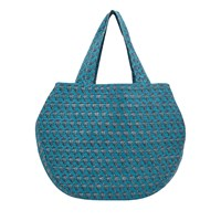 East Booti Print Cotton Bag Teal