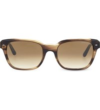 Emporio Armani Ar8067 Rectangle Sunglasses Brown