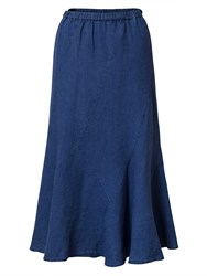 East Linen Cutabout Skirt Blue