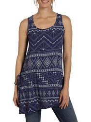 Fat Face Peggy Tribal Top Indigo