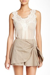 Ryu Sheer Sleeveless Blouse White