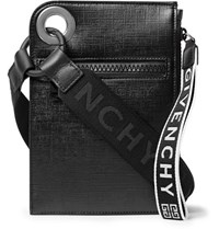 Givenchy Jaw Textured Coated Canvas Messenger Bag Black