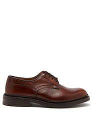 Tricker's Woodstock Leather Derby Shoes Brown