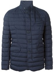 Herno Padded Button Jacket Blue