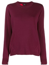Paul Smith Ps Open Back Draped Jumper Red