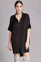 Forever 21 Sheeny High Low Shirt Dress