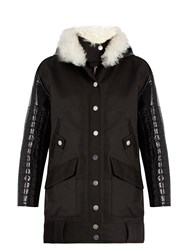 Courreges Layered Cotton Drill Parka Black