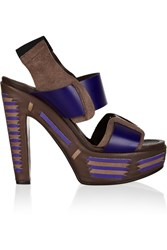 Marni Multi Strap Leather Sandals Brown