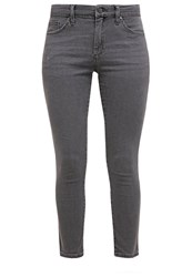 Topshop Petite Leigh Slim Fit Jeans Charcoal Dark Gray
