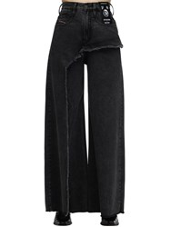 Diesel D Izzier Wide Leg Cotton Denim Jeans Black
