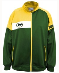 Majestic Men's Green Bay Packers Court Track Jacket Green Yellow White