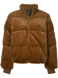 Stine Goya Aria Faux Fur Jacket Brown