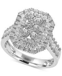 Effy Pave Classica By Diamond Cluster Ring 1 1 5 Ct. T.W. In 14K White Gold