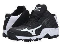 Mizuno 9 Spike Advanced Erupt 3 Mid Black White Men's Cleated Shoes