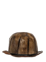 Move Vintage Effect Leather Bowler Hat