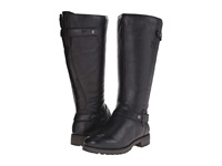 Naturalizer Tanita Wide Calf Black Leather Women's Wide Shaft Boots