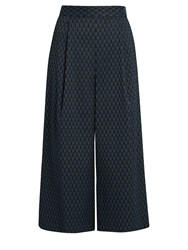 Diane Von Furstenberg Holly Culottes Black Navy