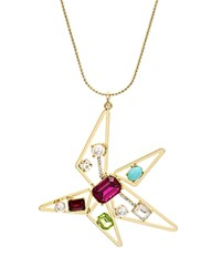 Rj Graziano Abstract Star Pendant Necklace 28 Multi Gold