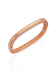 Roberto Coin Princess 18K Rose Gold Bangle Bracelet