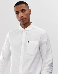 Jack Wills Wadsworth Slim Fit Oxford Shirt In White