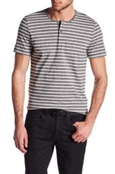 Kenneth Cole Striped Henley Shirt Black