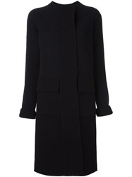Jil Sander Boucle Panel Coat Blue