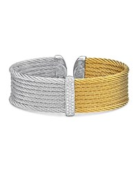 Alor Two Tone Cable Cuff Gray Gold