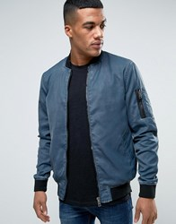 Solid Ma1 Bomber Jacket In Washed Blue Blue
