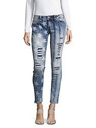 Miss Me American Heavy Distressed Jeans Multicolor
