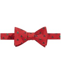 Brooks Brothers Men's Christmas Tree To Tie Bow Tie Red