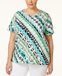 Alfred Dunner Plus Size Printed Top