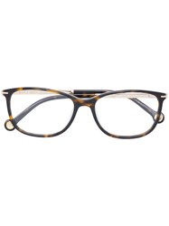 Carolina Herrera Rectangular Glasses Brown