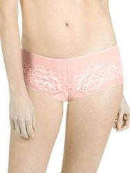 Natori Foundations Flora Mesh Brief Cameo Rose Cashmere Black Lt Mocha