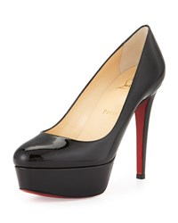 Christian Louboutin Bianca Patent Leather Platform Red Sole Pump Black