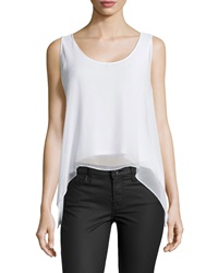 Philosophy Layered High Low Tank White Star